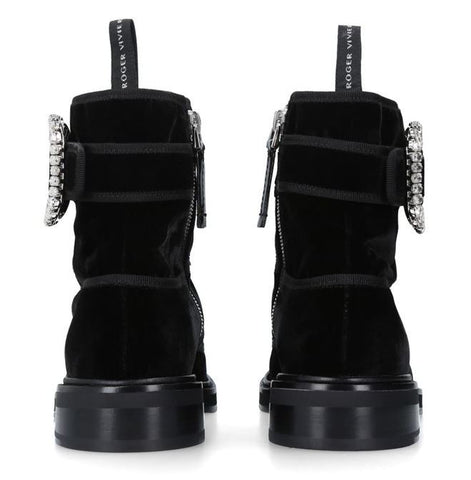 'Viv' Rangers Strass Buckle Ankle Boots