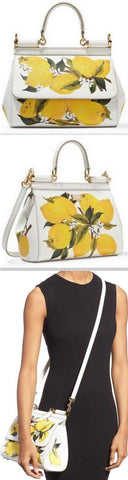 'Miss Sicily' Medium Lemon Print Bag - DESIGNER INSPIRED FASHIONS