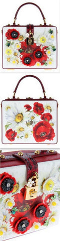 Daisy Floral Appliqué Box Bag | DESIGNER INSPIRED FASHIONS