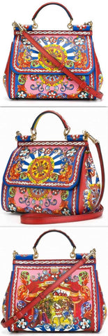 'Carretto Sicily' Printed Medium Bag - DESIGNER INSPIRED FASHIONS