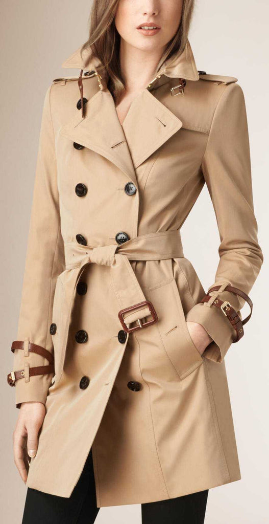 Double Breasted Trench Coat - DESIGNER INSPIRED FASHIONS