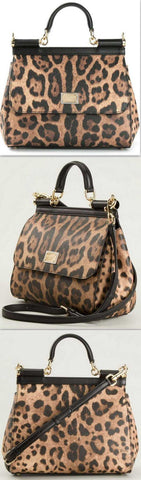 'Sicily' Leopard Print Tote - DESIGNER INSPIRED FASHIONS