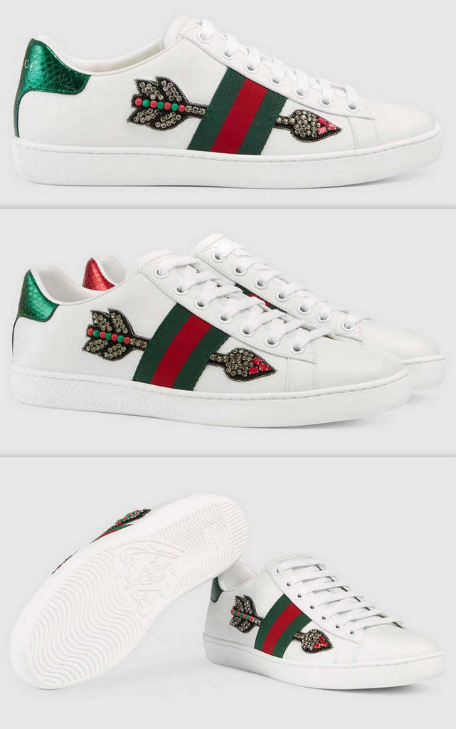 Ace Embroidered Low Top Sneaker - Arrows