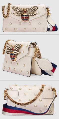 'Broadway' Leather Mini Clutch Bag, White - DESIGNER INSPIRED FASHIONS