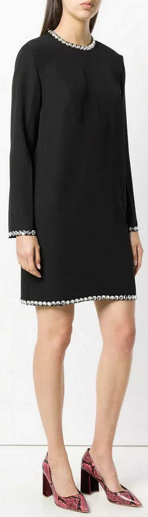 Crystal-Trim Shift Dress