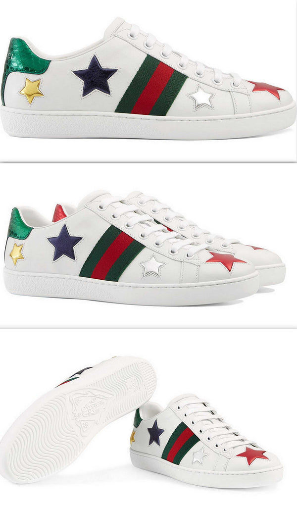 2f3b83a1e88 Ace Embroidered Low Top Sneakers - Stars – DESIGNER INSPIRED FASHIONS