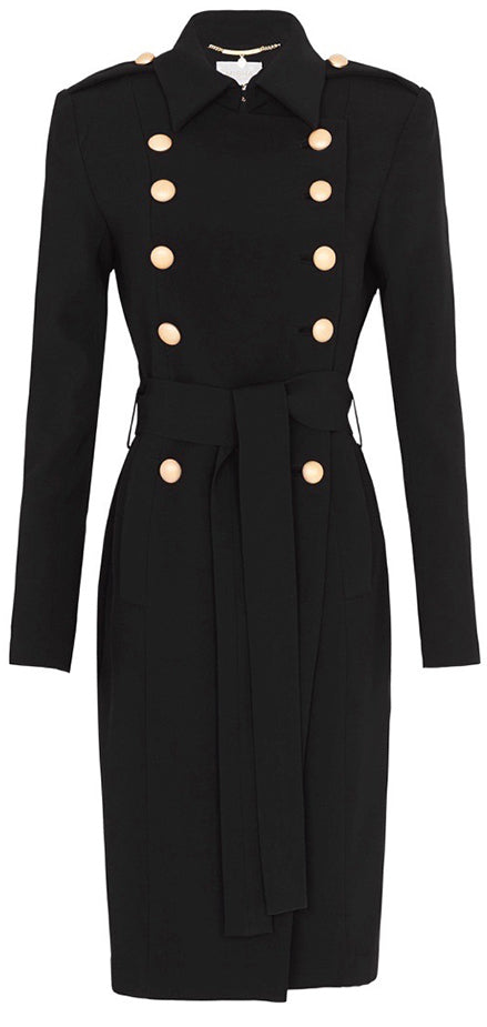 'Andrea' Trench Coat, Black