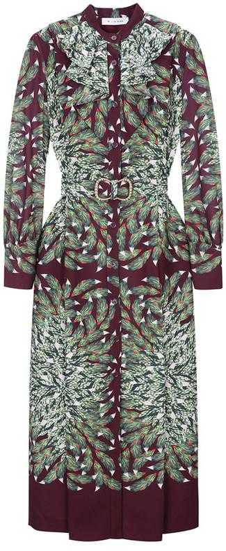 Belted Print Shirt-Dress