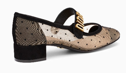 32fa2f49db4 Dior Baby-D Ballet Pump in Black Dotted Swiss – DESIGNER INSPIRED ...