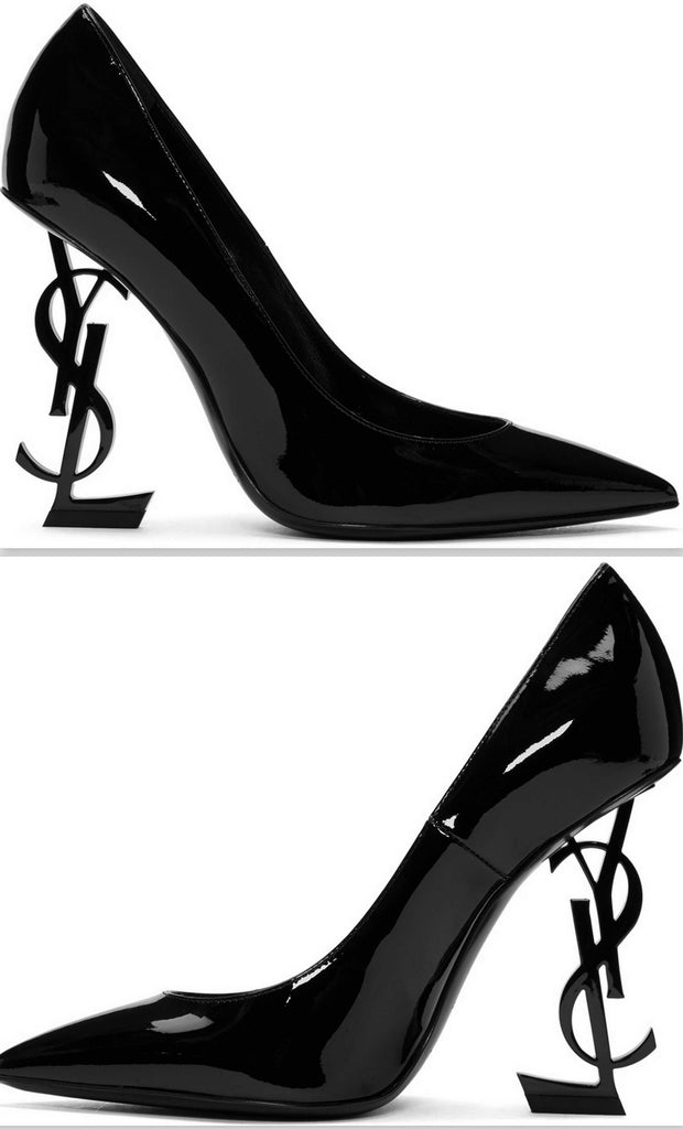 Black Patent Opyum Pumps