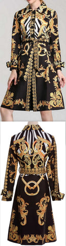 Baroque Print Coat