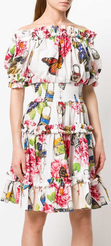 Shirred Butterfly Dress | DESIGNER INSPIRED FASHIONS