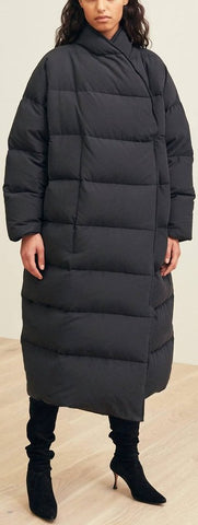 'Bondy' Black Puffer Coat
