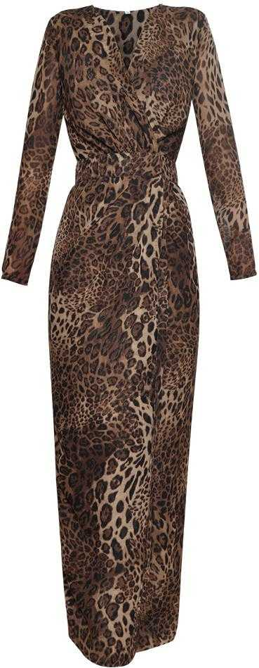 Long Leopard Print Evening Dress