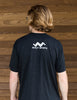 Triblend Tshirt-Shortsleeve-Charcoal Gray-Scout Sports logo in white