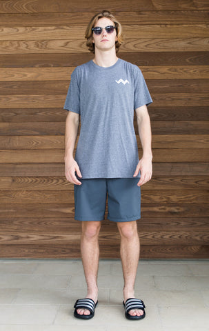 Triblend Crewneck Tshirt-Heahter Gray-Shortsleeve-Scout Sports