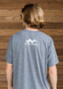 Triblend Tshirt-Heather Gray-Unisex-Scout Sports logo in white