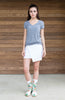 Triblend Tshirt-Ladies Vneck-Heather Gray-Scout Sports