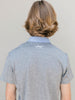 Junior Guys Golf Polo-Gray and Blue-Scout Sports logo on back