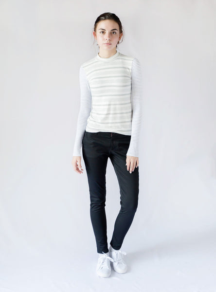 Major Mock Neck Top Slim