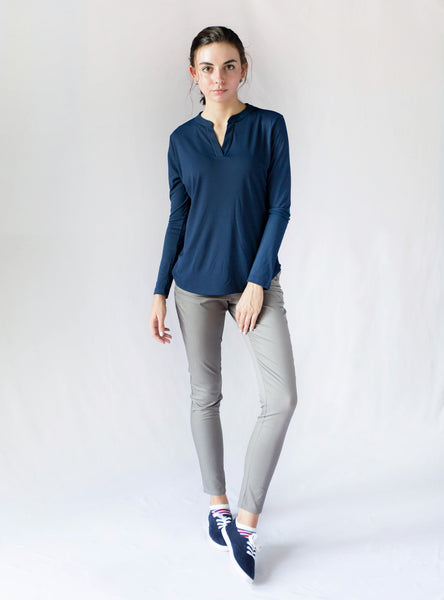 Victor Slim Splitneck Top