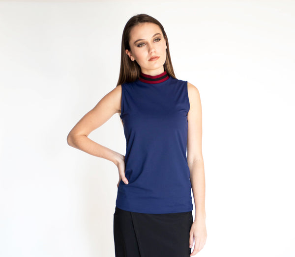 Marked Mockneck Top