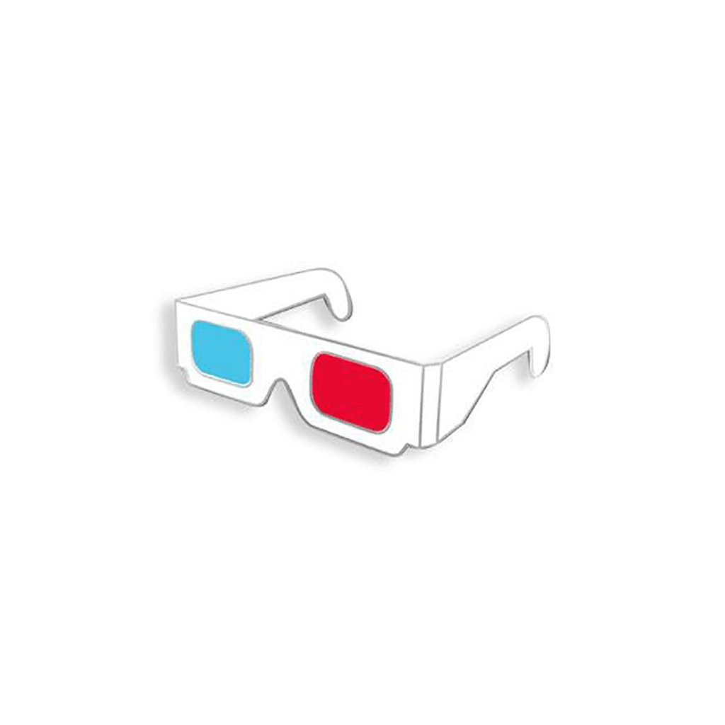 3D Glasses Enamel Pin - [aka]