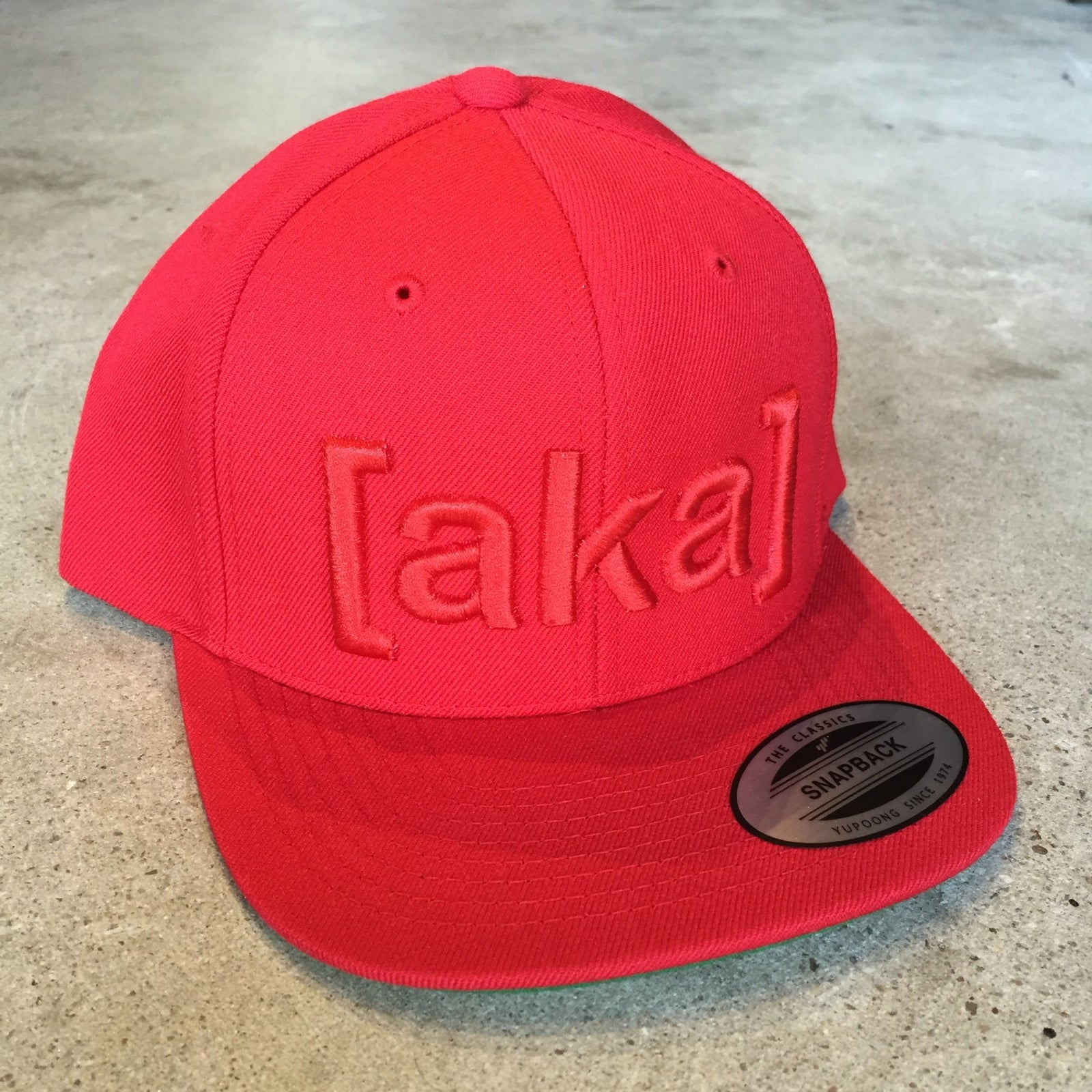 AKA Snapback Hat - Red on Red - [aka]