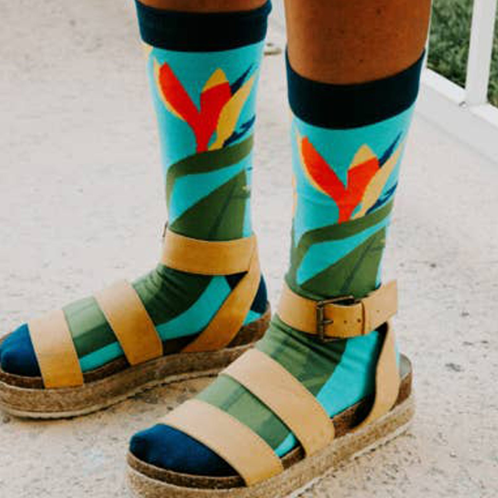 Bird of Paradise Crew Sock - [aka]