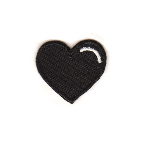 Black Heart Sticker Patch - [aka]