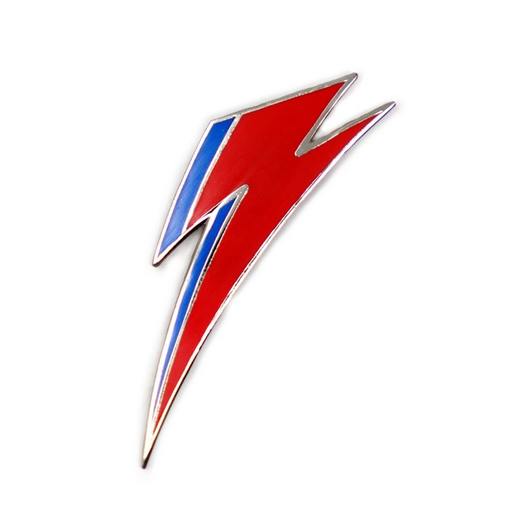 David Bowie Aladdin Bolt Enamel Pin - [aka]