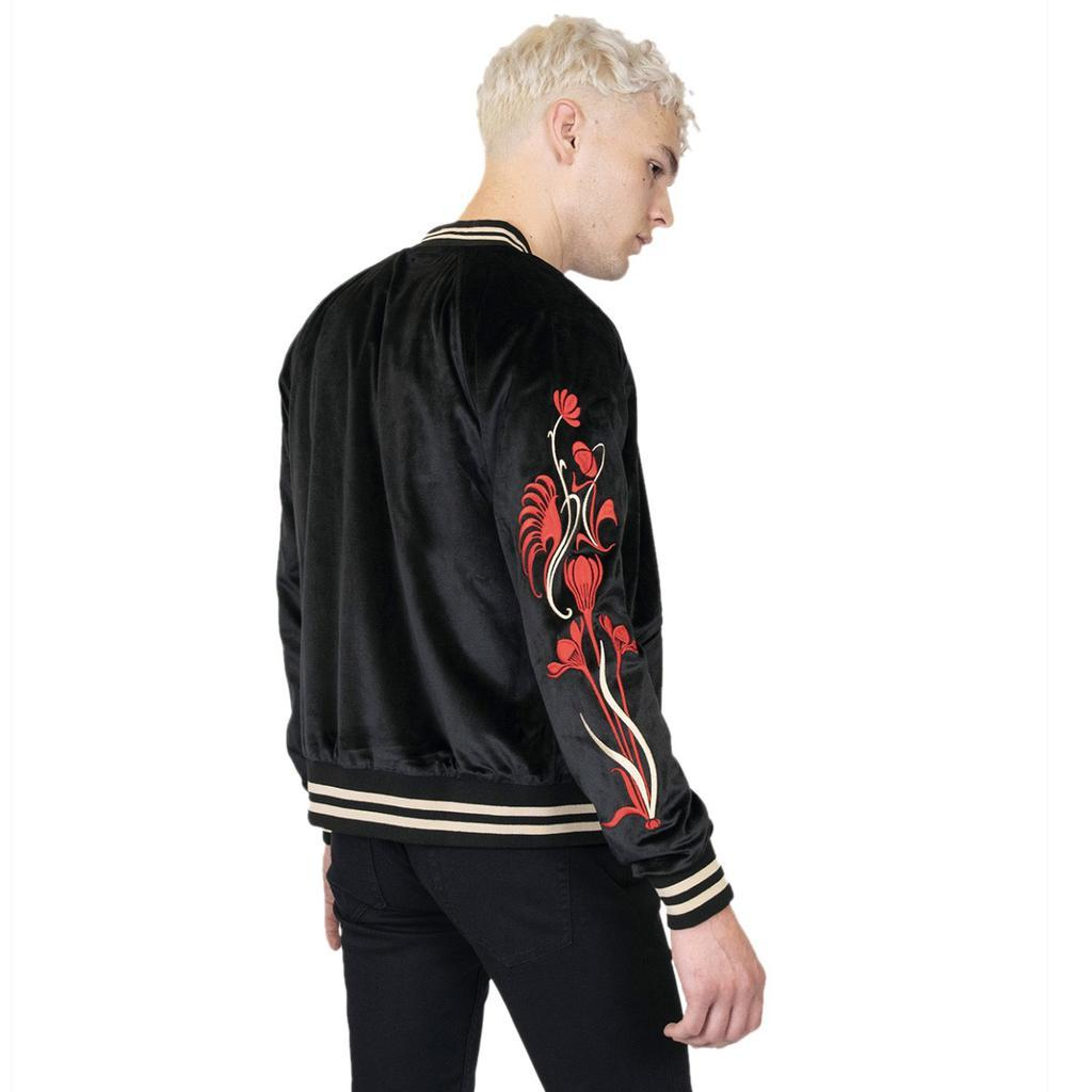 Deepest Valley Velvet Jacket with floral embroidery - [aka]