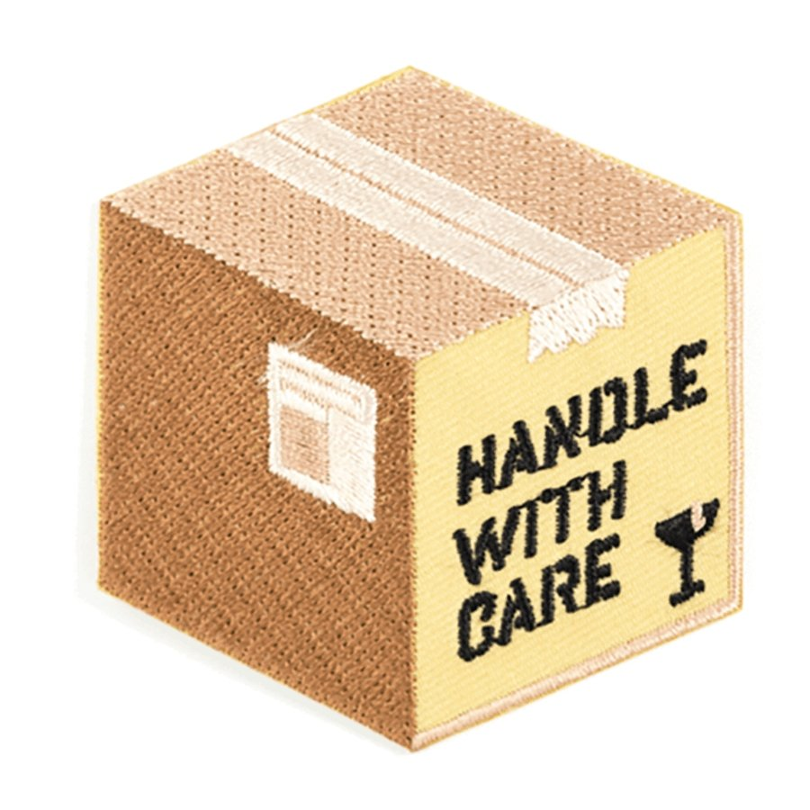 Handle With Care Iron-On Patch - [aka]