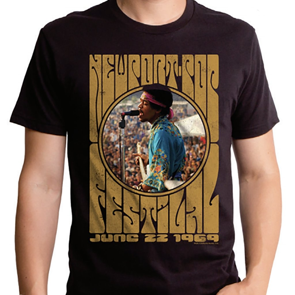 Jimi Hendrix Newport Pop Men's Tee - [aka]
