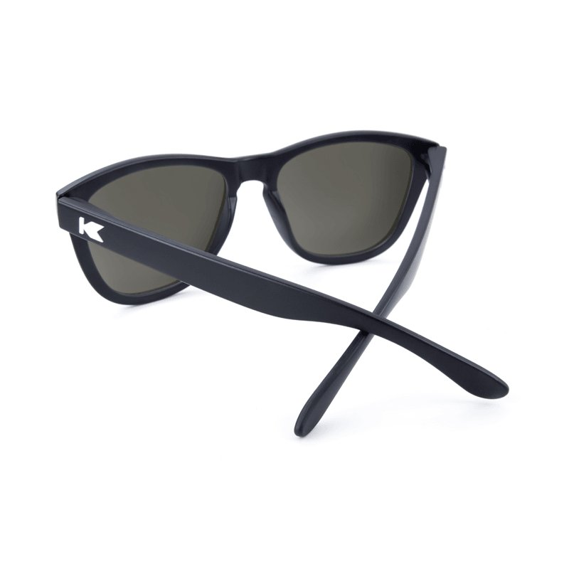 KnockAround Premium Sunglasses, Black/Smoke Polarized - [aka]