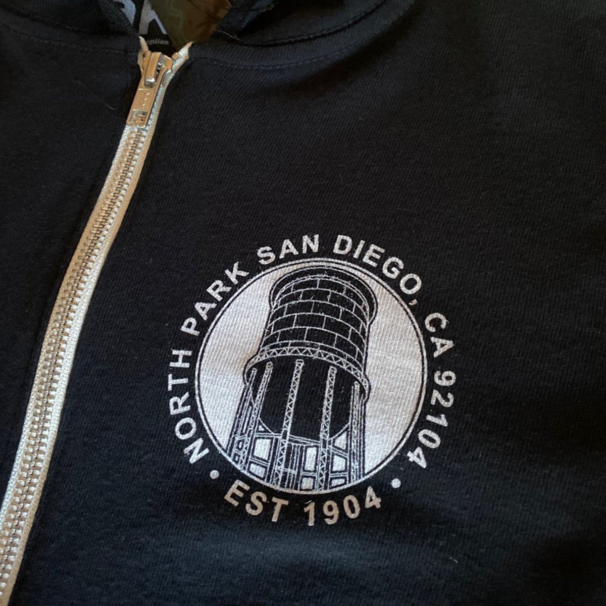 North Park Water Tower Zip Hoodie - [aka]