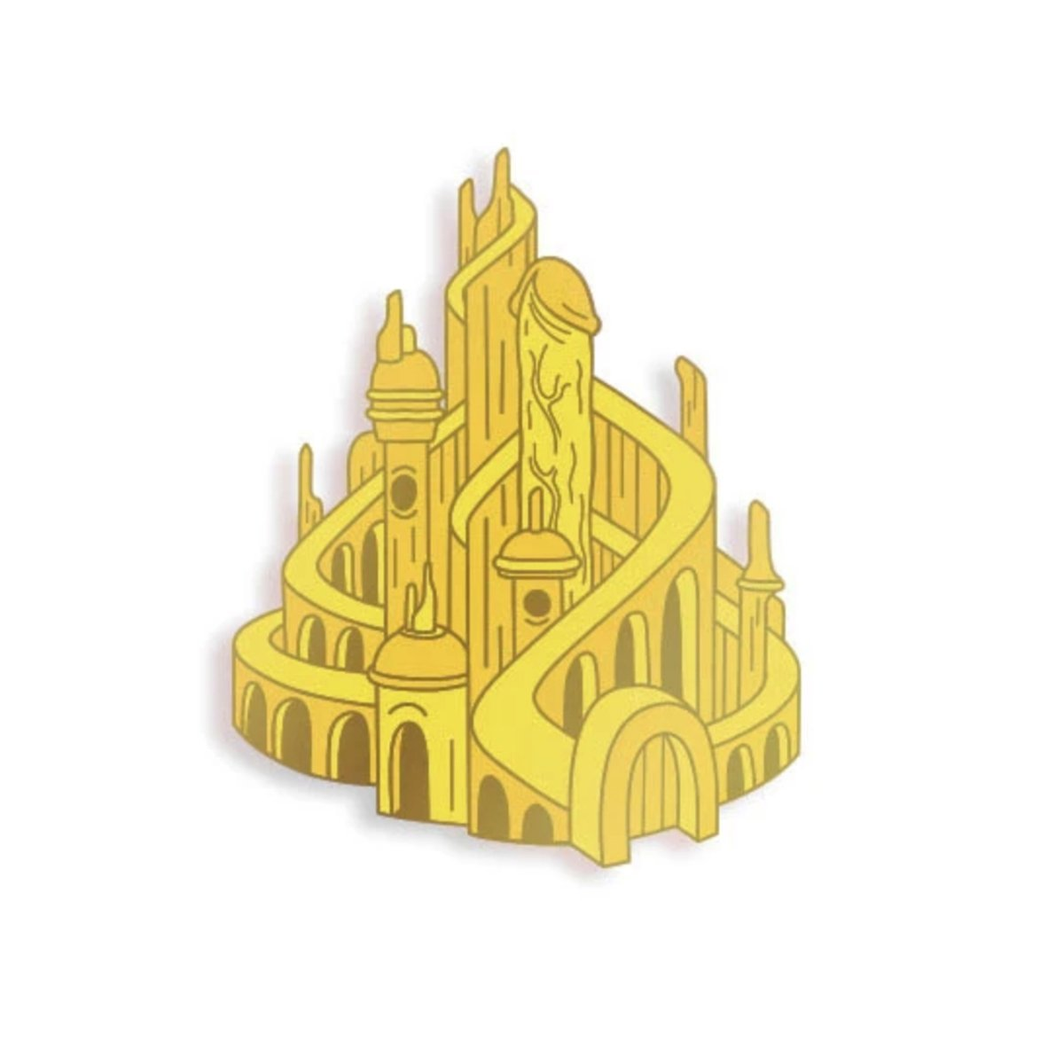 Phallic Castle (Gold Edition) Pin - [aka]
