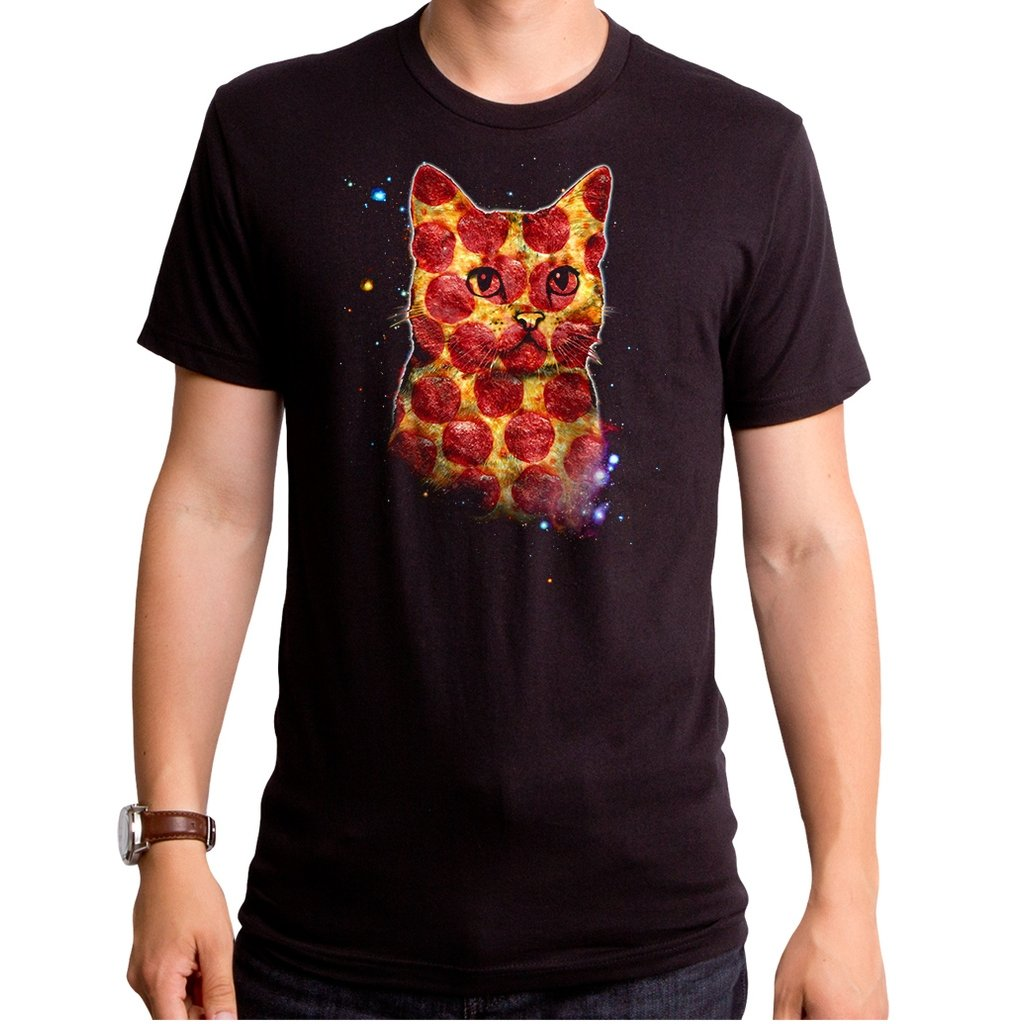 Pizza Cat in Space Mens Tee - [aka]