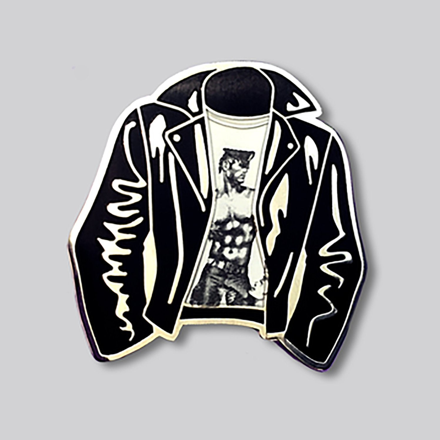 Tom of Finland Leather Jacket Pin - [aka]