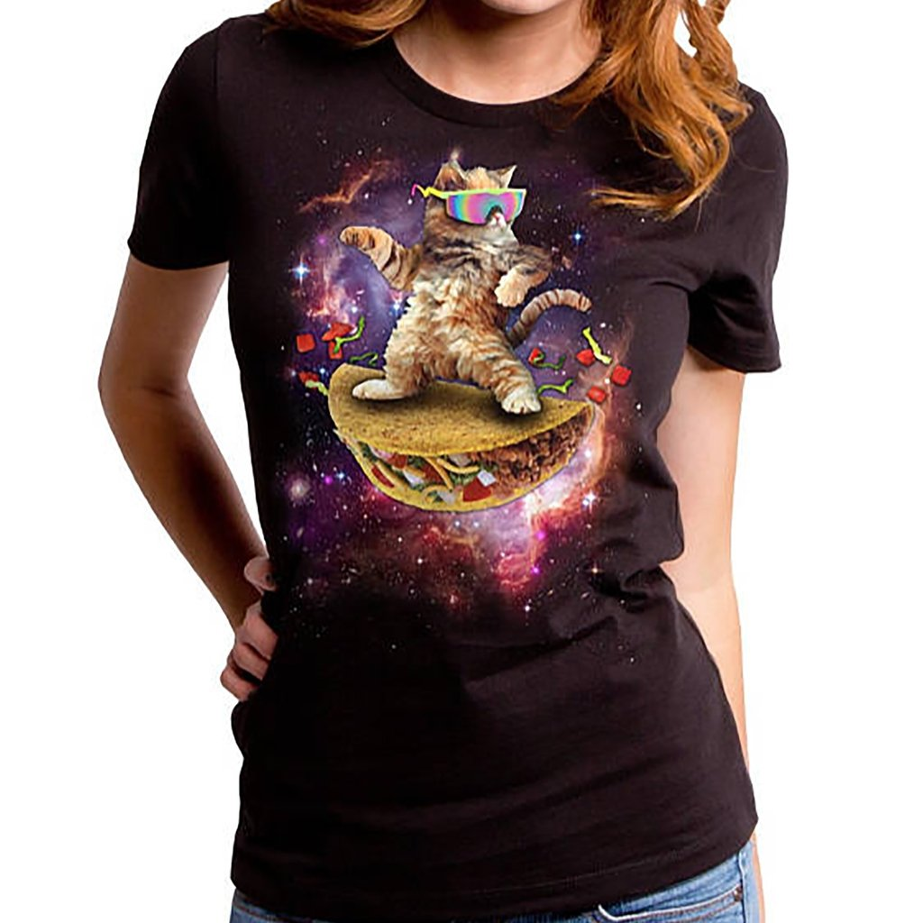 Women's Awesome Cat Tee - [aka]