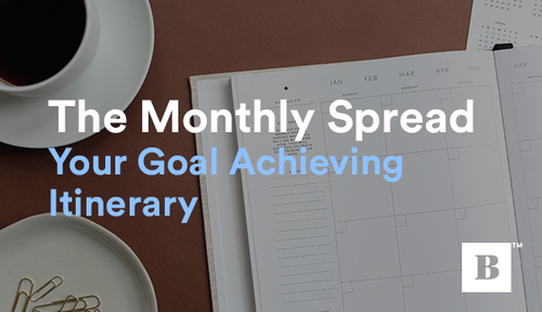 The Monthly Spread your Goal Achieving Itinerary