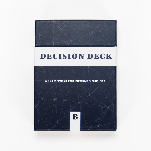 Decision Deck front view. A framework for informed choices.