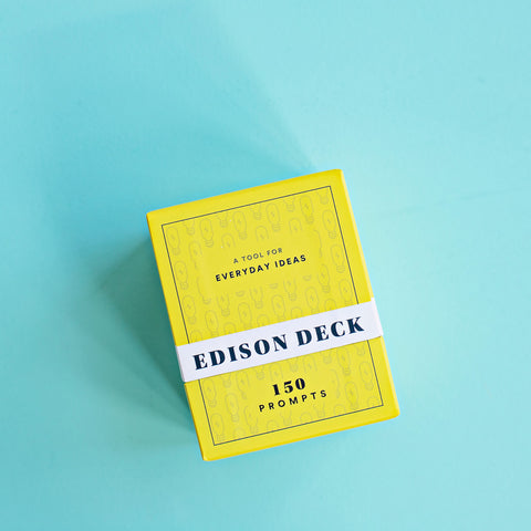 Edison Deck front view with blue background