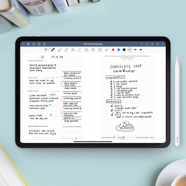 Self Journal GoodNotes & Notability App Template