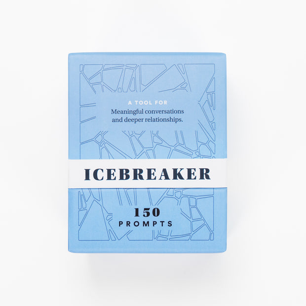 An image of The Icebreaker Deck's front view. The Icebreaker 150 Prompts a tool for meaningful conversations and deeper relationships.