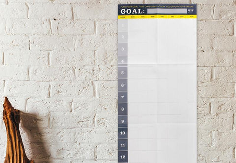 13-Week Wall Roadmap - Goal Tracker
