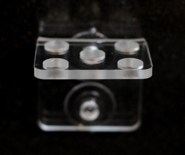 Frag Rack Clear Acrylic- Holds 5 Coral Frag Plugs