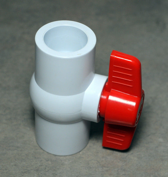 "1"" Pvc Ball Valve - Thread X Thread. Aquarium Plumbing 1 Inch"