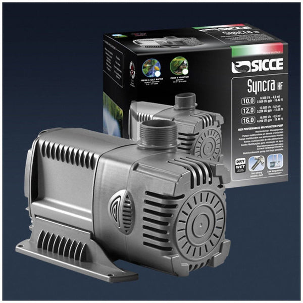 Sicce Syncra 16 High Flow Pump 4200 Gph. 2 Free Filter Socks