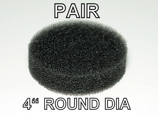 "Pair 4"" Round Foam Sponge For Aquarium Canister Filter And Substrate Reactor"